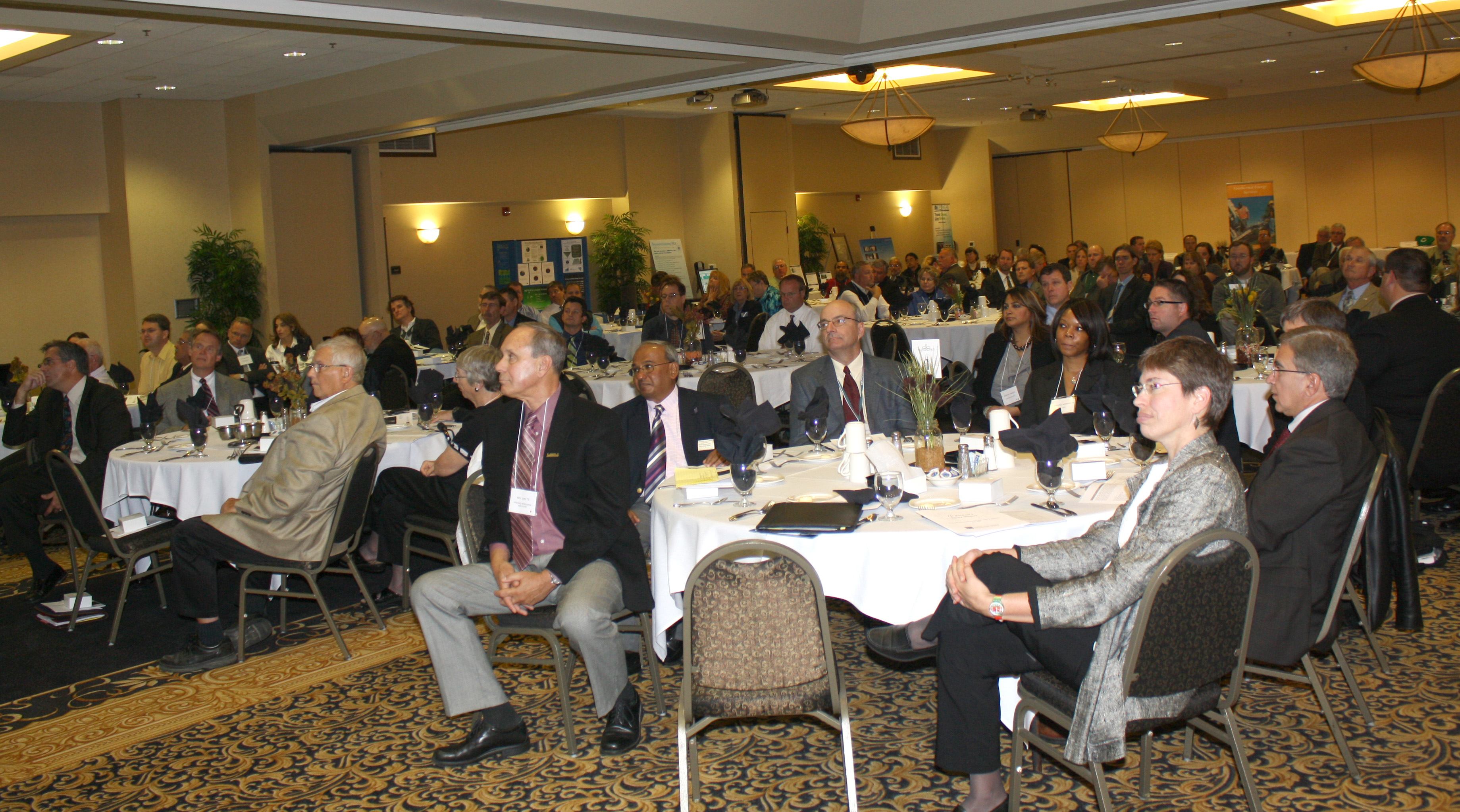 Audience listens to Gary Miller's presentation