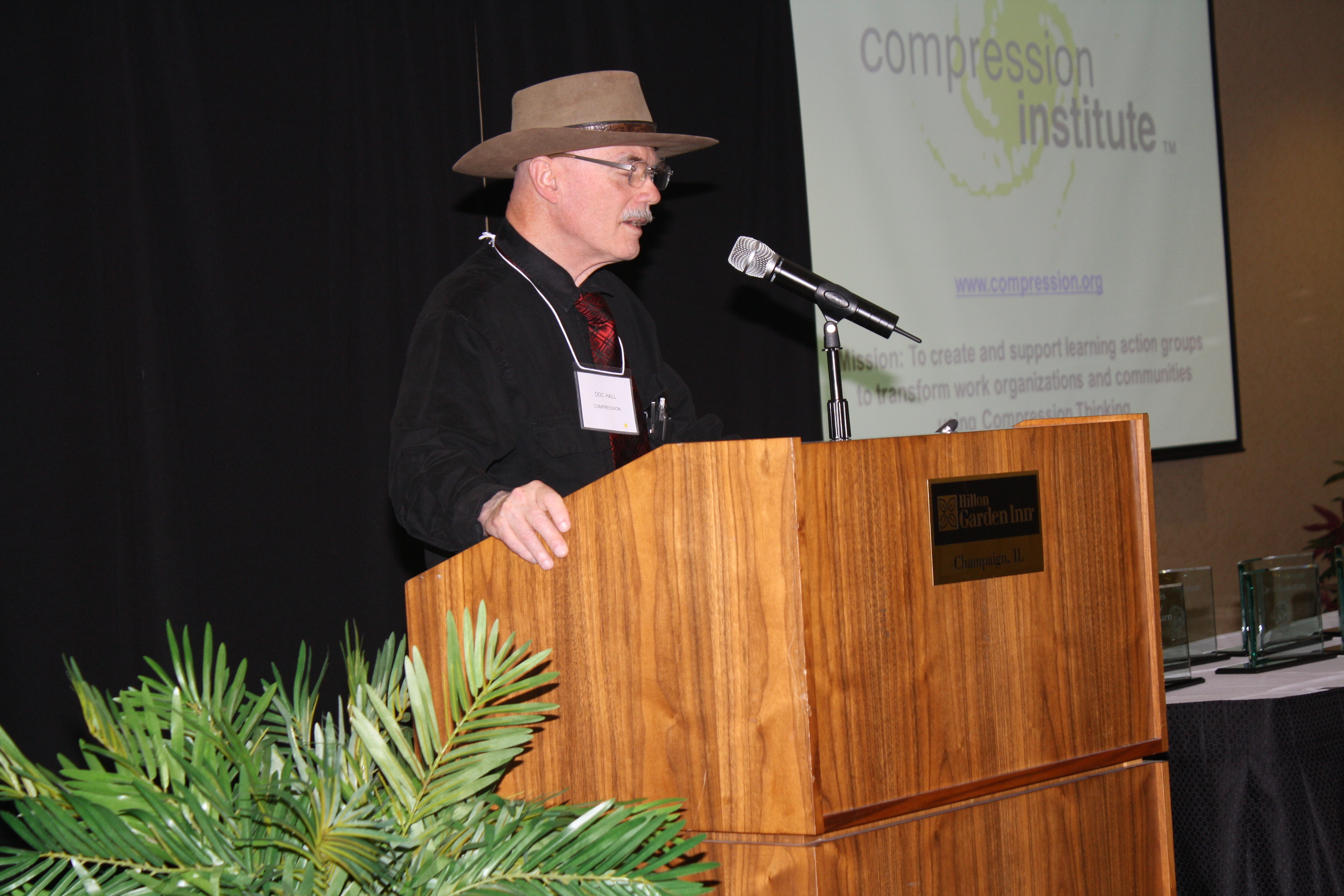 Doc Hall speaks at Governor's Awards