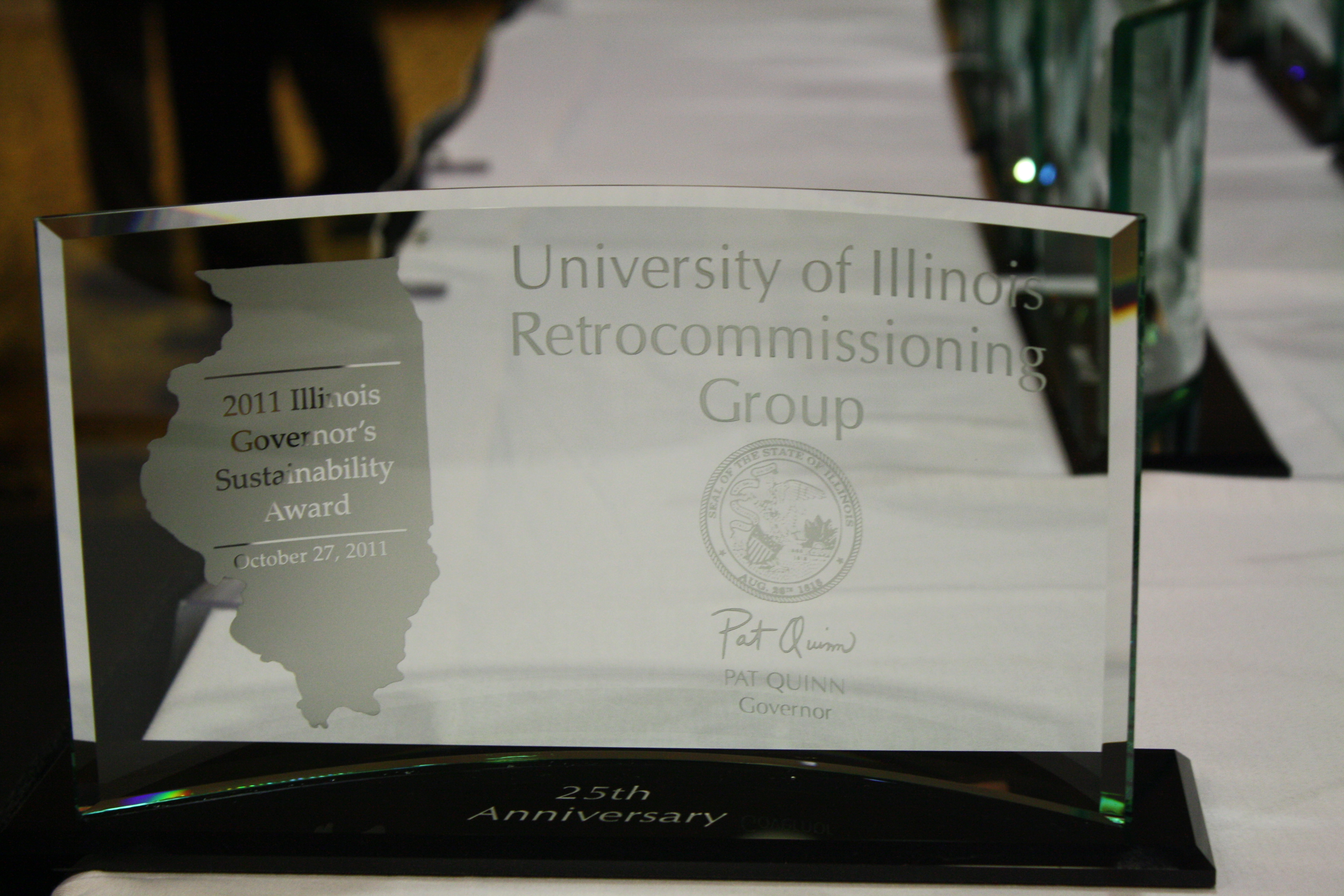 One of the 2011 Governor's Sustainability Awards