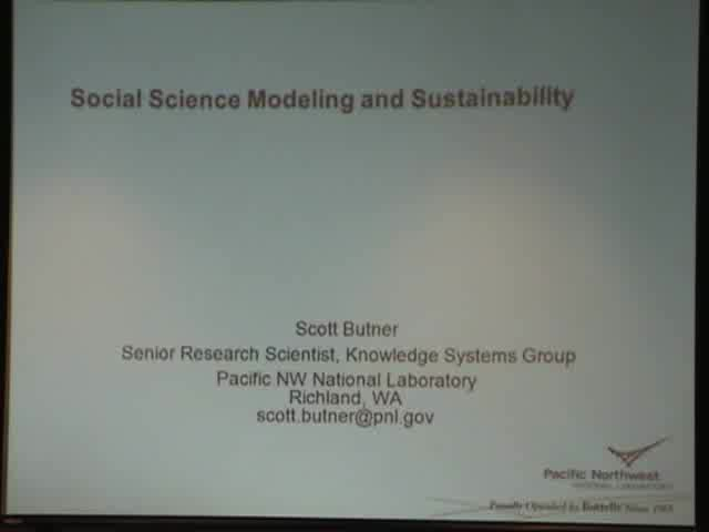 Title Slide: Social Science Modeling and Sustainability