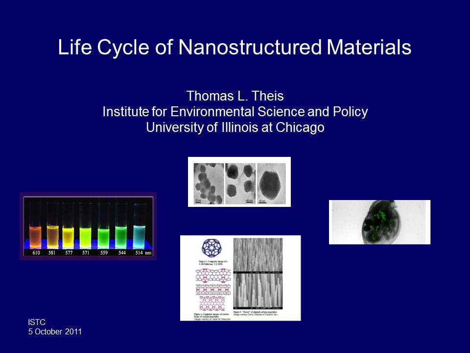 Title Slide: Life Cycle of Nanostructured Materials