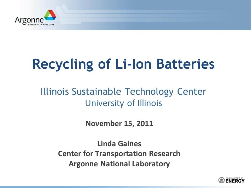 Title Slide: Comparison of Li-ion Battery Recycling Processes