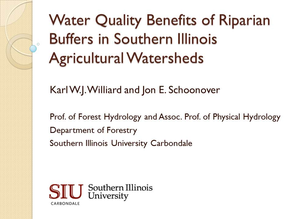Title Slide: Water Quality Benefits