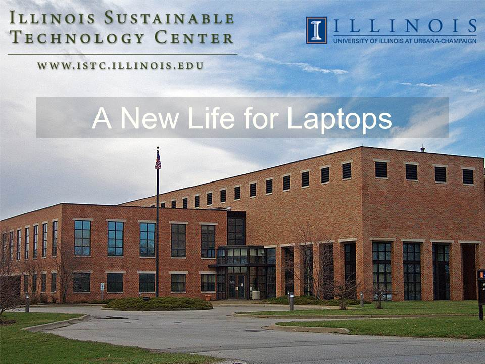 Title Slide: A new life for laptops