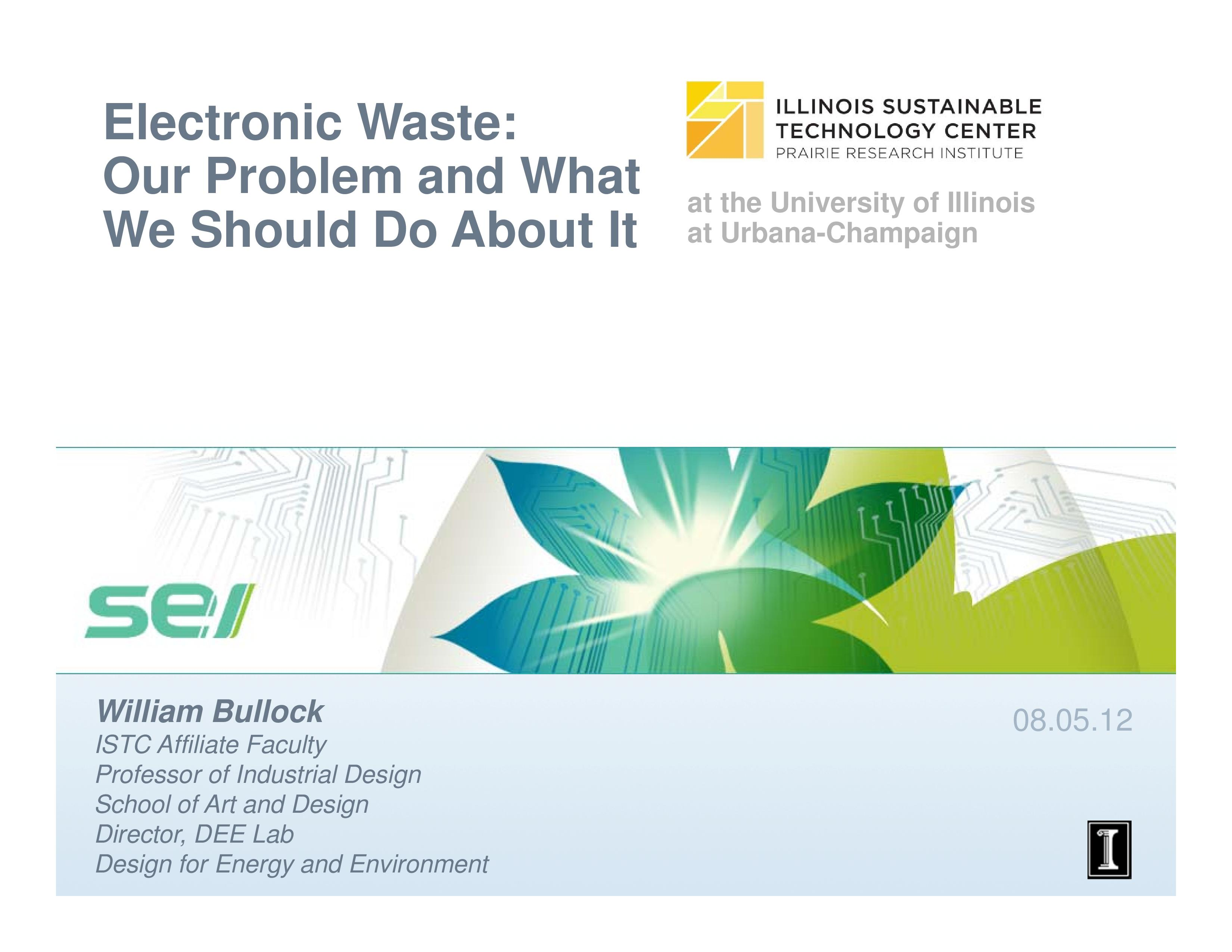 Title Slide: Electronic Waste