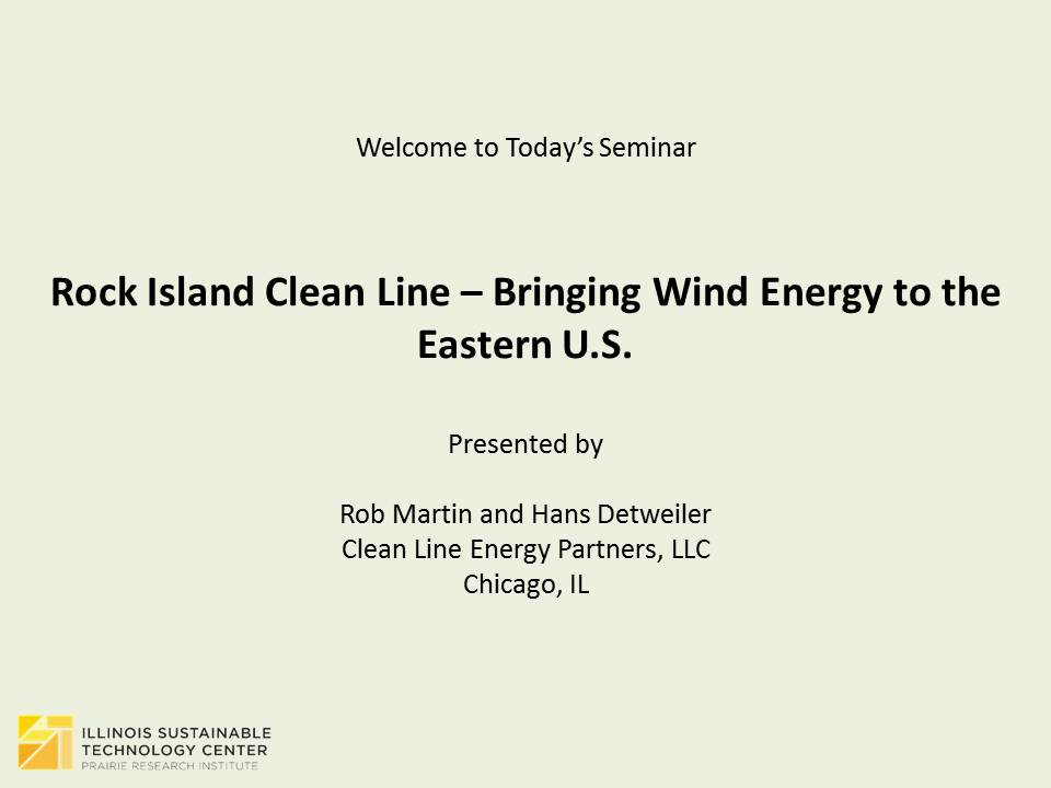 Title Slide: Rock Island Clean Line