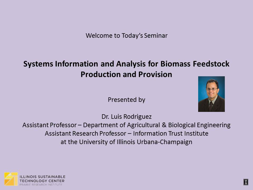 Title Slide: Systems Informatics and Analysis
