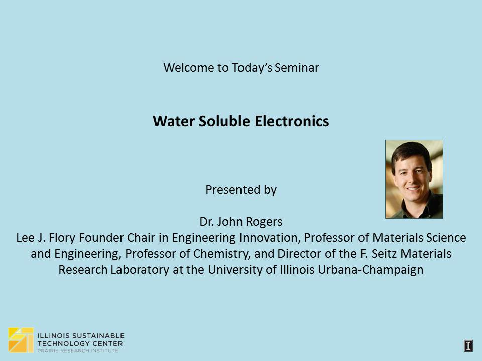 Title Slide: Water Soluble Electronics