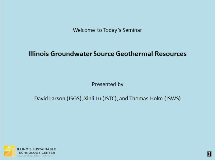 Title Slide: IL groundwater source geothermal resources