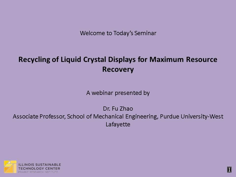 Title Slide: Recycling of Liquid Crystal Displays