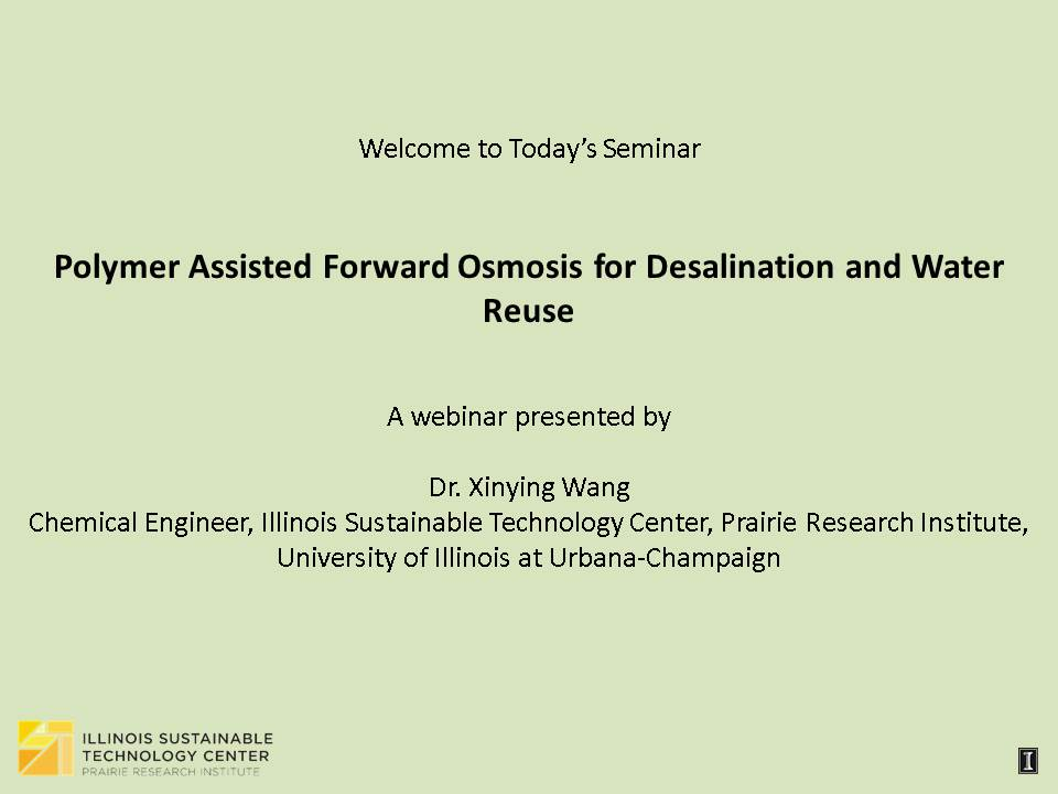 Title Slide: Polymer Assisted Forward Osmosis