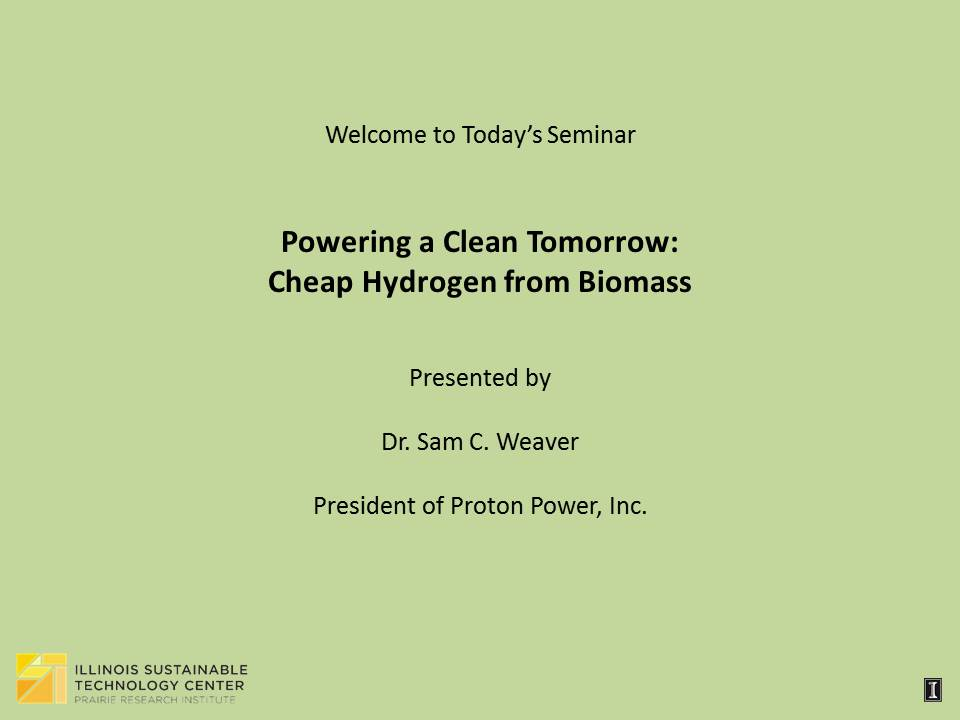 Title Slide: Powering a Clean Tomorrow