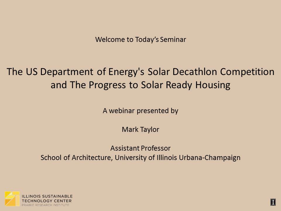 Title Slide: Solar Decathlon