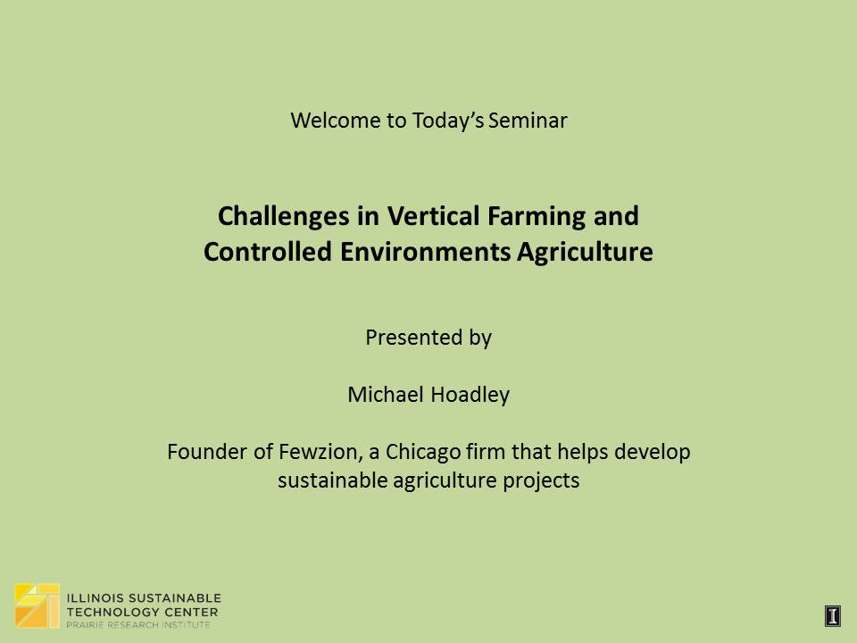 Title Slide: Challenges in Vertical Farming