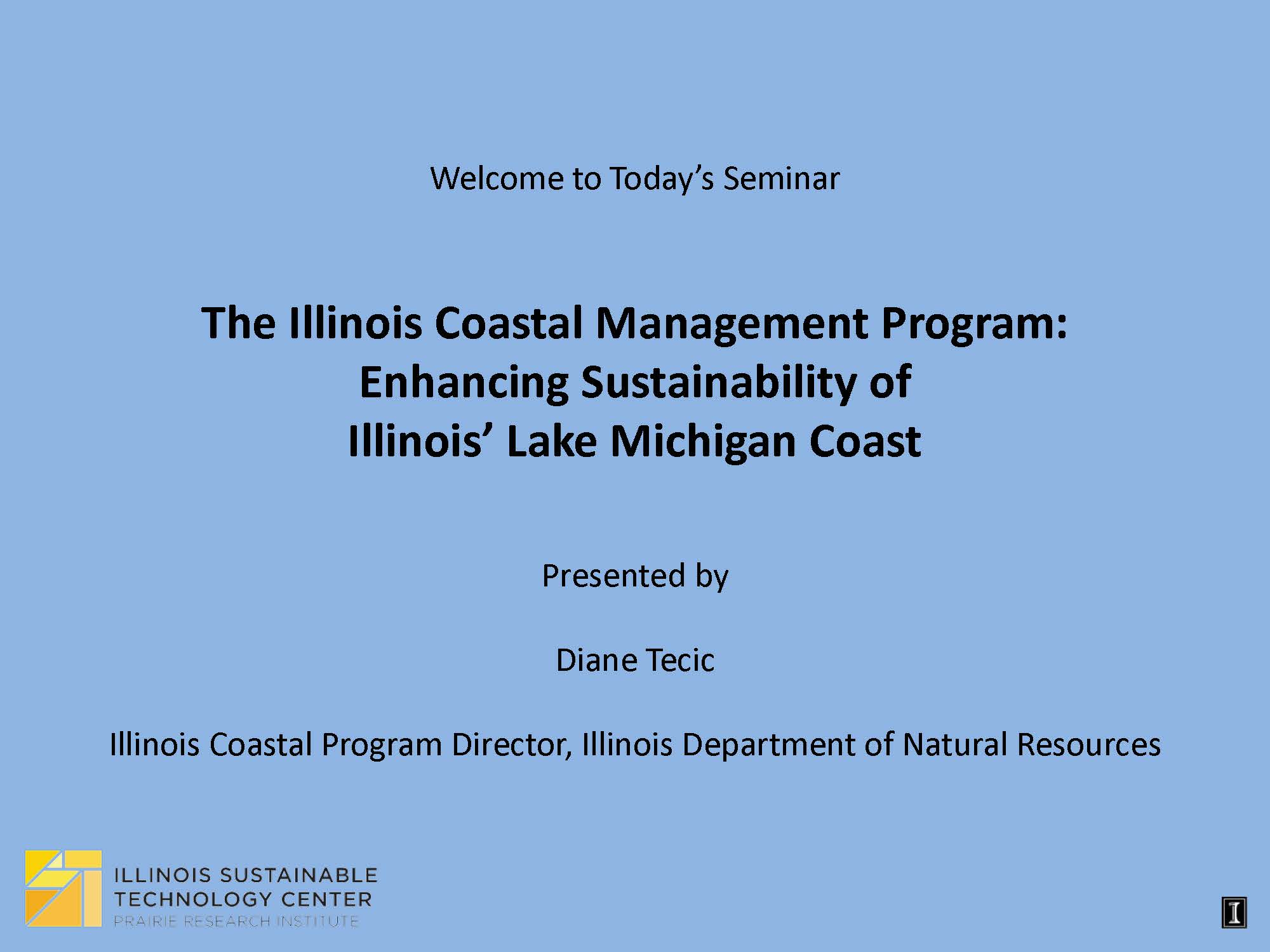 Title Slide: IL Coastal Management Program