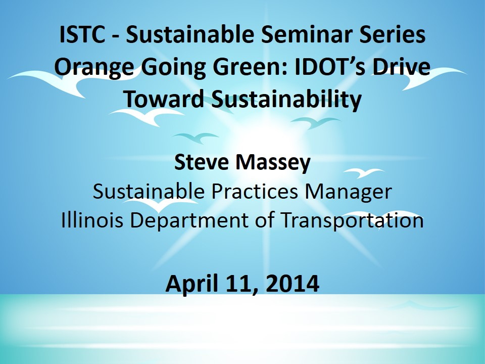 Title Slide: Orange Going Green
