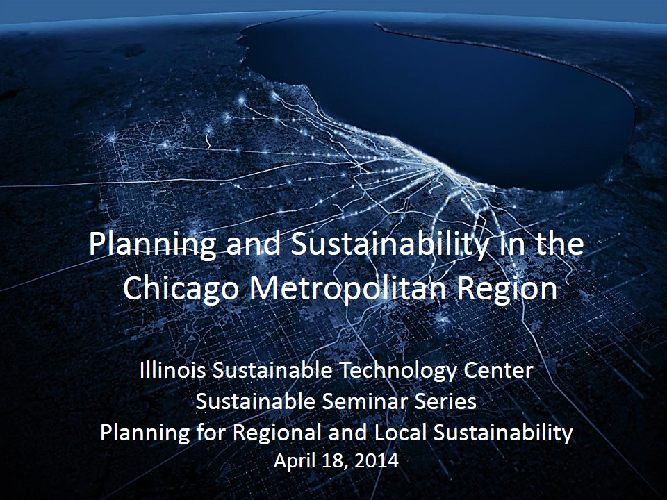 Title Slide: Planning for Regional and Local Sustainability