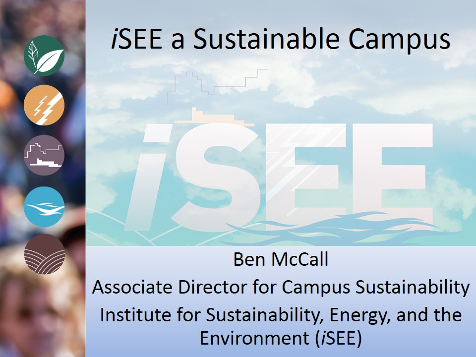 Title Slide: iSEE a Sustainable Campus