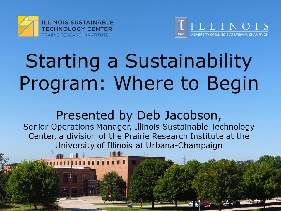 Title Slide: Starting a Sustainability Program