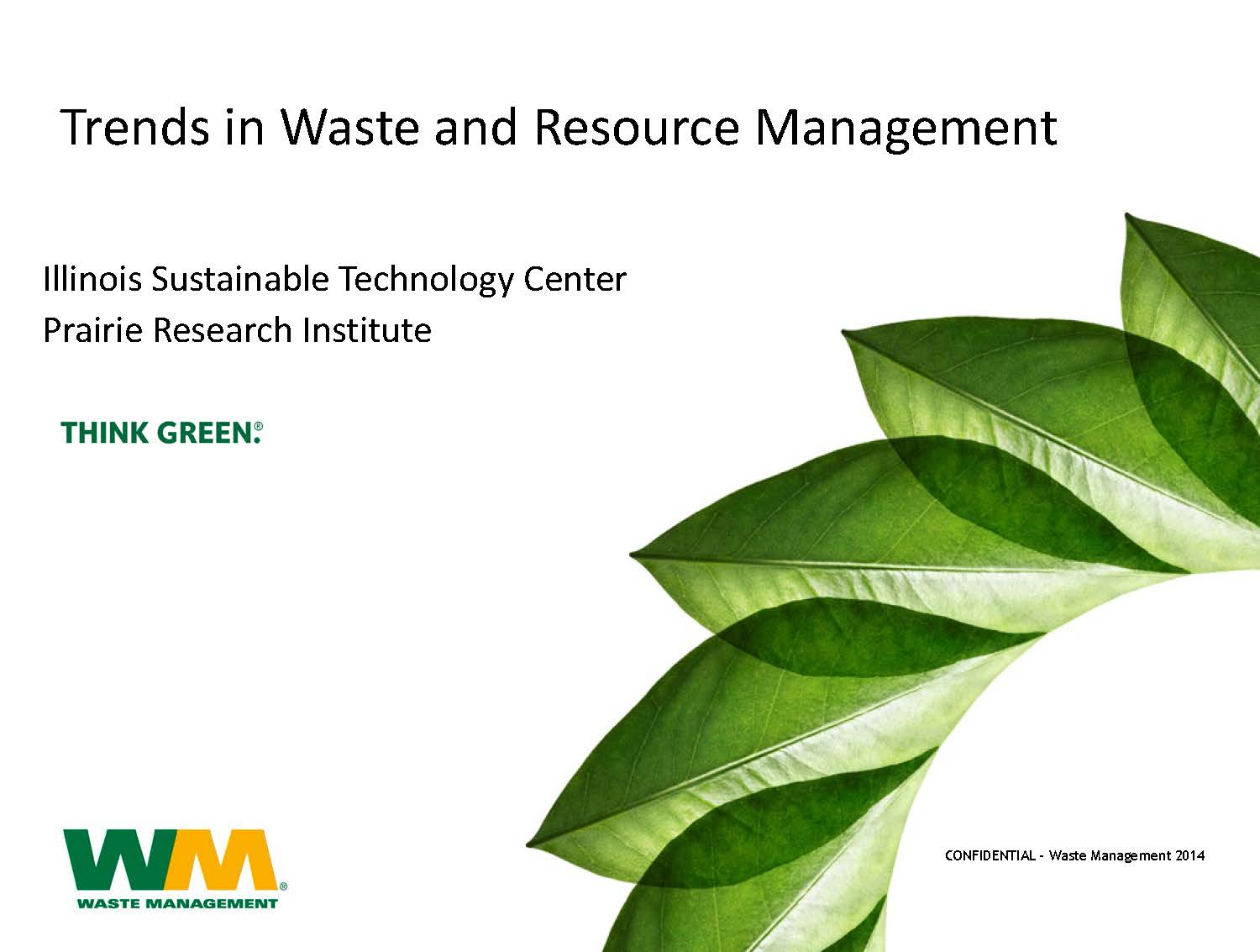 Title Slide: Trends in Waste and Resource Management