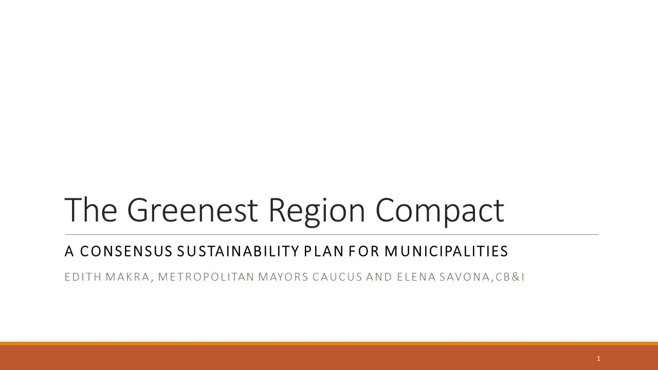 Title Slide: Greenest Region Compact