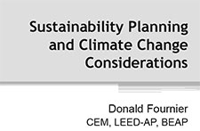 Title Slide: Sustainability Planning and Climate Change Considerations