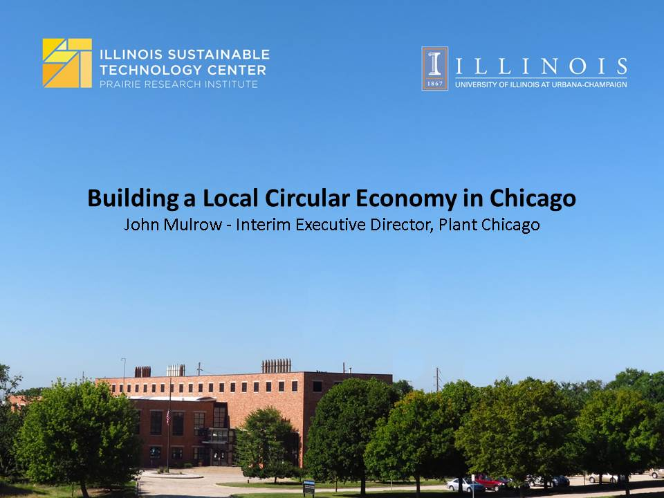 Title Slide: Building a Local Circular Economy in Chicago