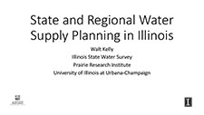 Title Slide: State and Regional Water Supply Planning in Illinois