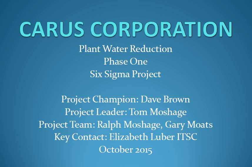 Title Slide: Carus Corporation
