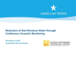 Title Slide: Reduction of Non-Revenue Water