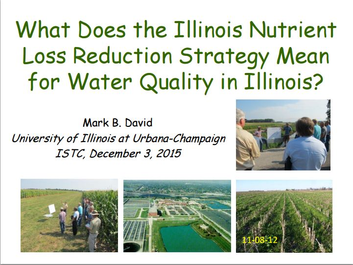 Title Slide: IL Nutrient Loss Reduction