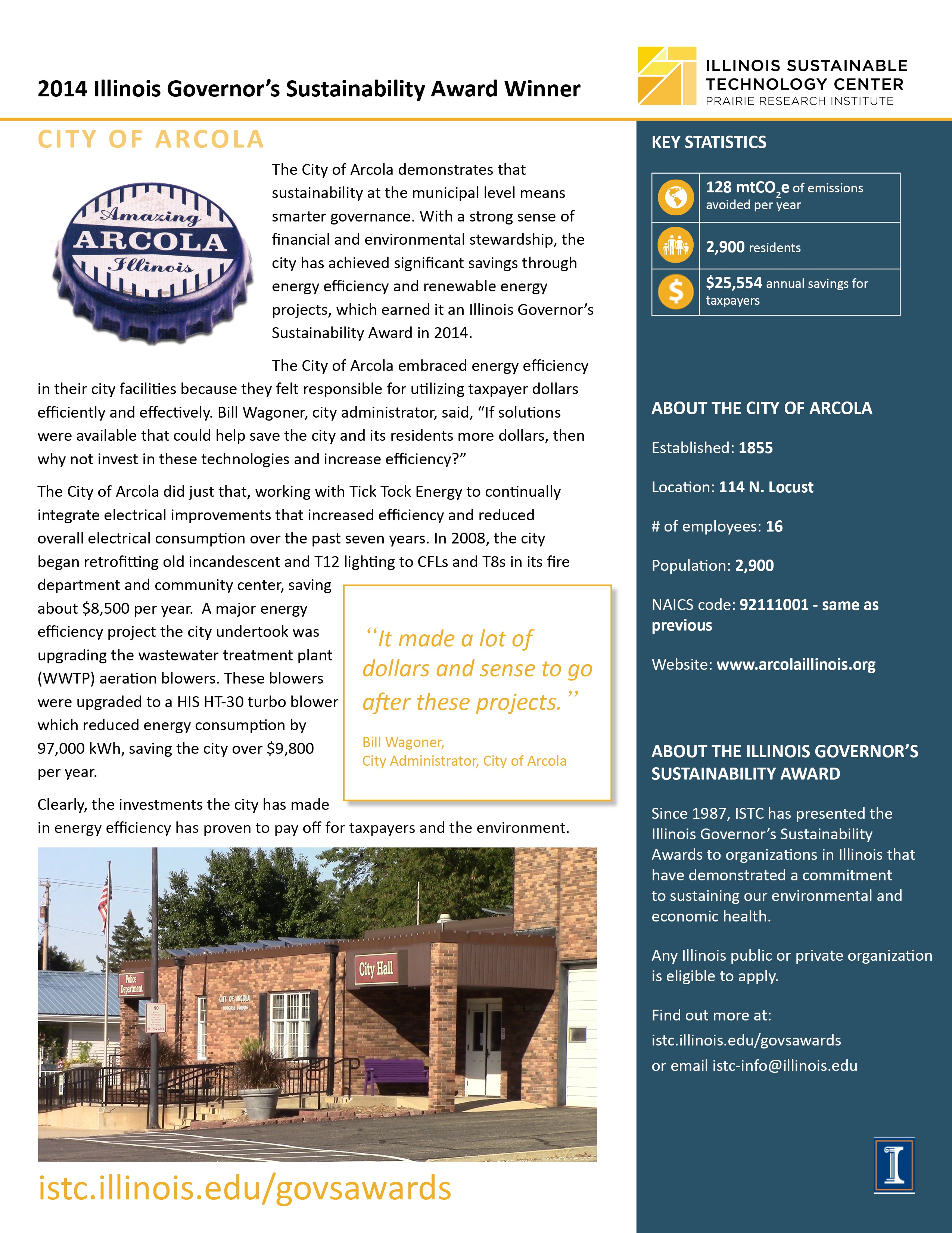 link to City of Arcola case study