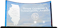 Governor's Sustainability award trophy
