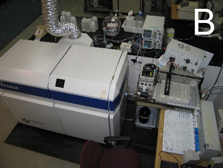 Figure 2B: Thermo Elemental PQ ExCell inductively coupled plasma - mass spectrometer with  a liquid chromatography interface
