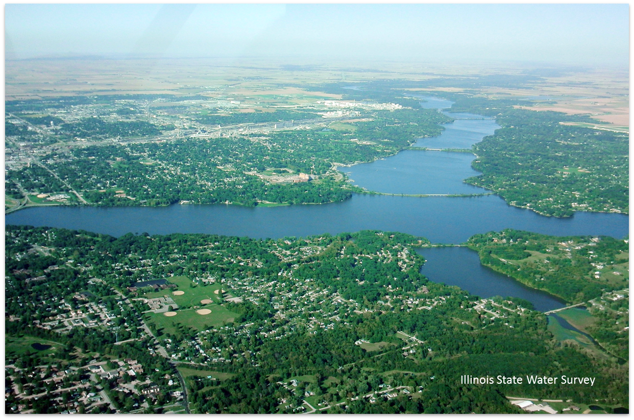 arial photo of Lake Decatur