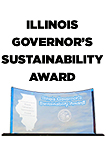Illinois Governor's Sustainability Award; those words are above the award plaque
