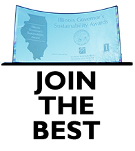 "A governor's award plaque with the words ""Join the Best"" under the plaque"
