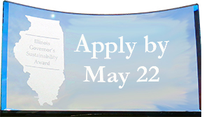 Governor's Award plaque that says Apply by May 22
