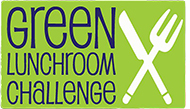 Green Lunchroom Challenge graphic with a knife and fork crossed