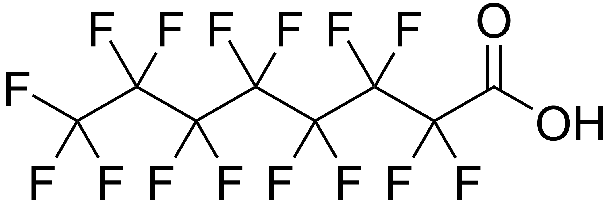 chemical structure of P F O A