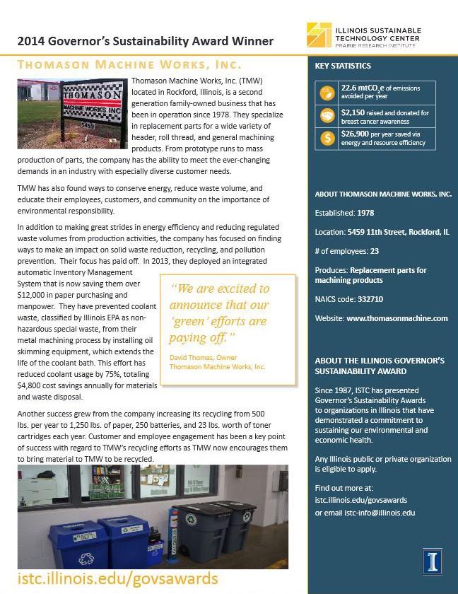 link to Thomason Machine Works, Inc case study