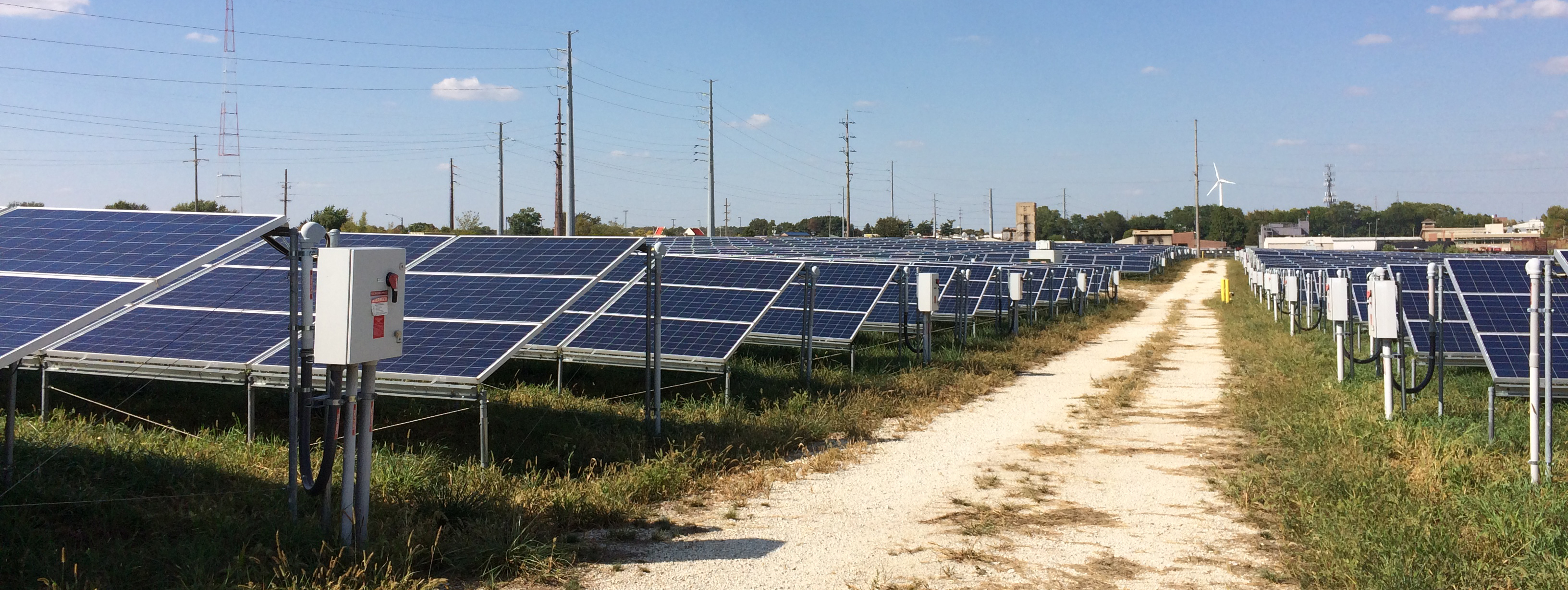 solar farm at the University of Illinois