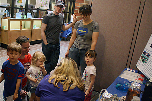 kids and adults learn about forward osmosis and water purification from Jennifer Deluhery