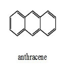 anthracene chemical structure: three carbon rings aligned in a straight line