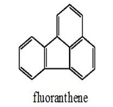 fluoranthene - three benzene rings around a 5 carbon ring structure