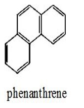 phenanthrene chemical structure - three benzene rings in a bent shape