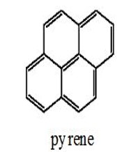 pyrene - 4 benzene rings in a honey come shape